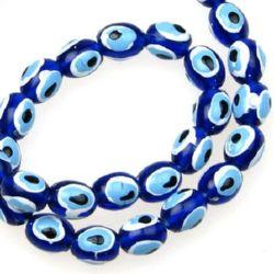 Evil eye, Beads, Round, Plastic, 7x6mm, 50pcs