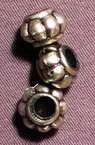 Мънисто метализе буре 13.5x8.5 мм дупка 6 мм цвят сребро -50 грама ~70 броя