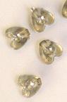 Мънисто имитация камъчета сърце 8 мм прозрачно -50 грама ±340 броя