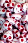 Χάντρα καρδιά 9x9 mm τρύπα 1 mm κόκκινο -50 γραμμάρια ~ 240 τεμάχια