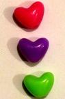 Perlă tip inima 10 mm MIX -50 grame