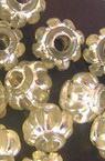 Мънисто сребърна нишка буре 10 мм прозрачно -50 грама