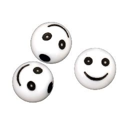 Bila zâmbet 10 mm gaură 2,5 mm alb -50 grame ~ 95 bucăți