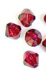 Χάντρα απομίμηση κρύσταλλο 8mm Τρύπα 1mm Κόκκινο -50 γραμμάρια ~ 240 τεμάχια