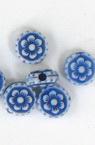 Χάντρα λουλούδι 8x5mm τρύπα 1.5mm μπλε -50 γραμμάρια ~ 300 τεμάχια