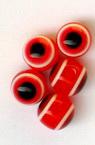 Топче око 8 мм дупка 2 мм червено -50 броя