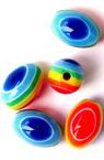 Цилиндър овал 10x8 мм цветно рае -50 броя