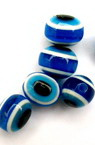 Acrylic Evil Eye Beads, Oval 10x8 mm hole 2 mm blue 4 colors -50 pieces