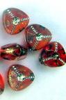 Трилъчка 8 мм имитация камък червено -50 грама