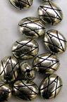 Margele metalice ovale de 10 mm culoare argintie -50 grame