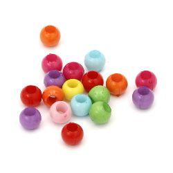 Bilă solidă 10 mm gaură 4 mm MIX -50 grame ~ 85 bucăți