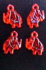 Pandantiv cristal elefant 15 mm roșu -50 grame