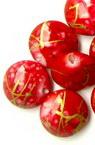 Мънисто златна нишка кръгче плоско 13 мм (дупка застъпване) червено -50 грама