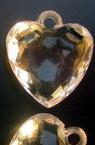 Κρεμαστό απομίμηση κρύσταλλο καρδιά 25 mm λευκό -50 γραμμάρια