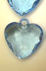 Pandativ inima de cristal  25 mm albastru multi-perete -50 grame