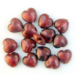 Inimi 14mm perle roșu -50 grame