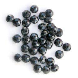 Margele abacus dense 8x6 mm gaură 1,5 mm culoare negru -50 grame ~ 260 bucăți
