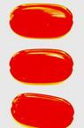 Cilindru oval plat 29x15x4 mm perlă roșie -50 grame