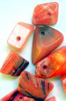 Margele sidef  roșu-perlă -50 de grame