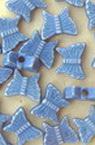 Χάντρα πεταλούδα 7x8.5x3.5 mm 1,5 mm μπλε -50 γραμμάρια ~ 400 τεμάχια