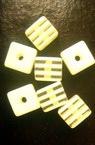 Кубче 8x8x7 мм с бели ленти -50 броя