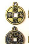 Паричка метализе злато с черен кант 18x2 мм с халка -50 грама