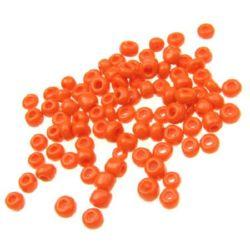 Γυάλινες χάντρες seed  4 mm πορτοκαλί -50 γραμμάρια