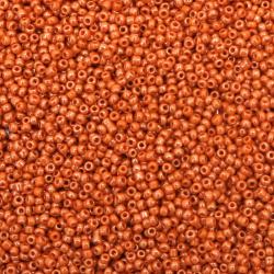 Γυάλινες χάντρες seed 2 mm opaque πορτοκαλί περλέ -50 γραμμάρια