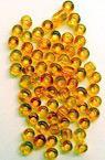 Margele de sticlă 3 mm caramel transparent -50 grame