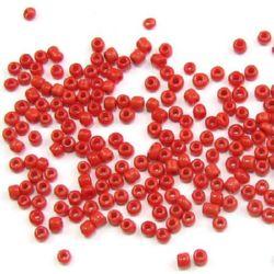 Margele de sticlă de 2 mm grosime roșu închis -50 grame