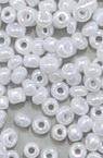 Margele de sticlă grosime 2 mm alb perlat 1 -50 grame