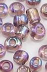 Margele de sticlă 2 mm transparent curcubeu violet-50 grame