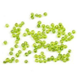 Margele de sticlă 3 mm fir de argint verde 1 -50 grame