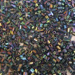 Margele de sticlă forma betisoare de 7 mm albastru transparent -50 gramee