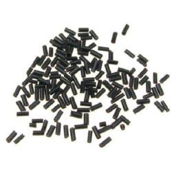Margele de sticlă betisoare de 4,5 mm negru -50 grame