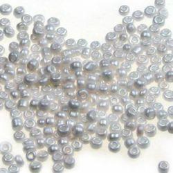 Γυάλινες χάντρες seed 2 mm Ceylon 1124 -50 γραμμάρια