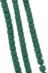 Мъниста стъклена пръчица 2 мм плътна матирана зелена Афганистан - 1 връзка ~ 30 см