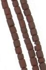 Мъниста стъклена пръчица 2 мм плътна матирана кафява Афганистан - 1 връзка ~ 30 см