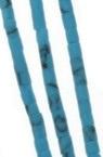 Мъниста стъклена пръчица 2 мм плътна матирана тюркоаз Афганистан - 1 връзка ~ 30 см