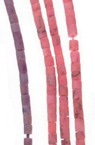 Мъниста стъклена пръчица 2 мм плътна матирана АСОРТЕ Афганистан - 1 връзка ~ 30 см