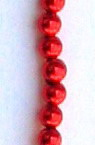 String beads plastic pearl 5 mm color red ~ 180 pieces
