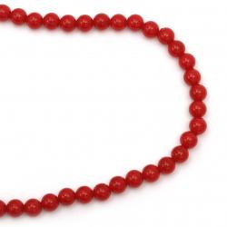 Perlă din plastic cu coarde de 10 mm culoare roșu ~ 90 bucăți