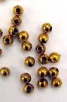 Perla Metalizata 4 mm gaură 1 mm culoare auriu -50 grame