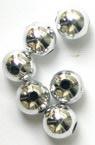 Мънисто метализе топче 8 мм дупка 2.5 мм цвят сребро -50 грама ~200 броя