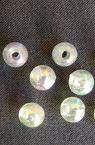 Plastic pearl bead 8 mm hole 1 mm transparent arc -50 grams ~ 178 pieces