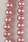 Наниз мъниста стъкло перла 8 мм розова 1 -120см ~170 броя