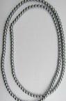 Наниз мъниста стъкло перла 8 мм сребро -120см ~170 броя