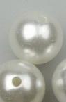 Στρόγγυλη χάντρα απομίμηση μαργαριταριού 20 mm τρύπα 2 mm λευκό -50  γραμμάρια ~ 12 τεμάχια