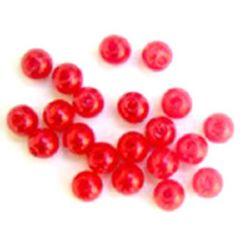 Perle 5 mm ABS 1 roșu de calitate -50 grame