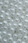 Plastic Pearls 4 mm ABS 1st quality white -50 grams ~ 1900 pieces
